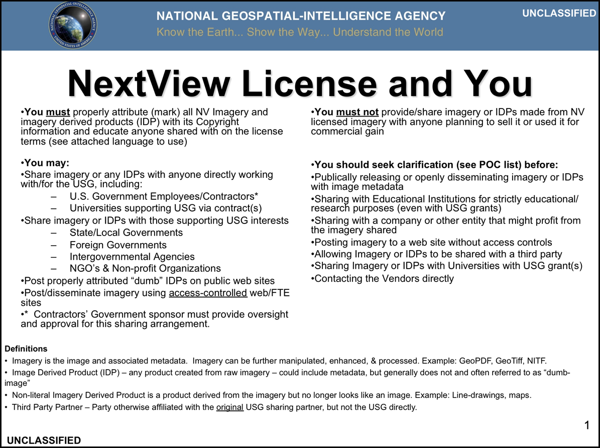 NextView license slide